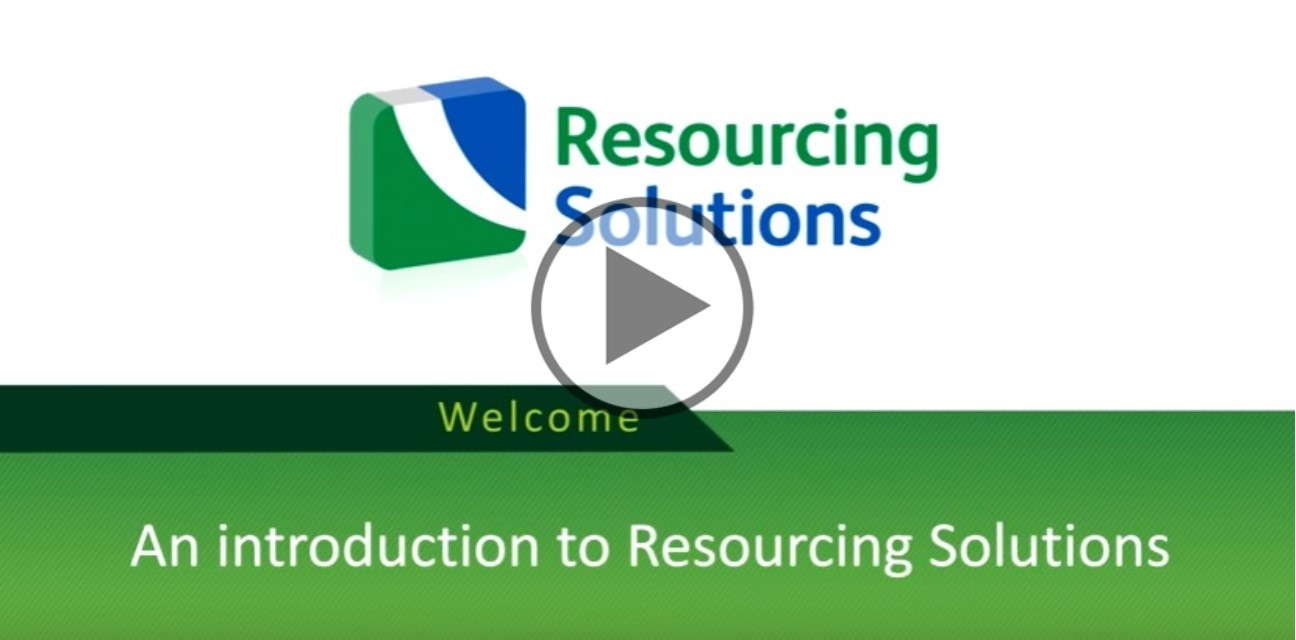 An introduction to Resourcing Solutions