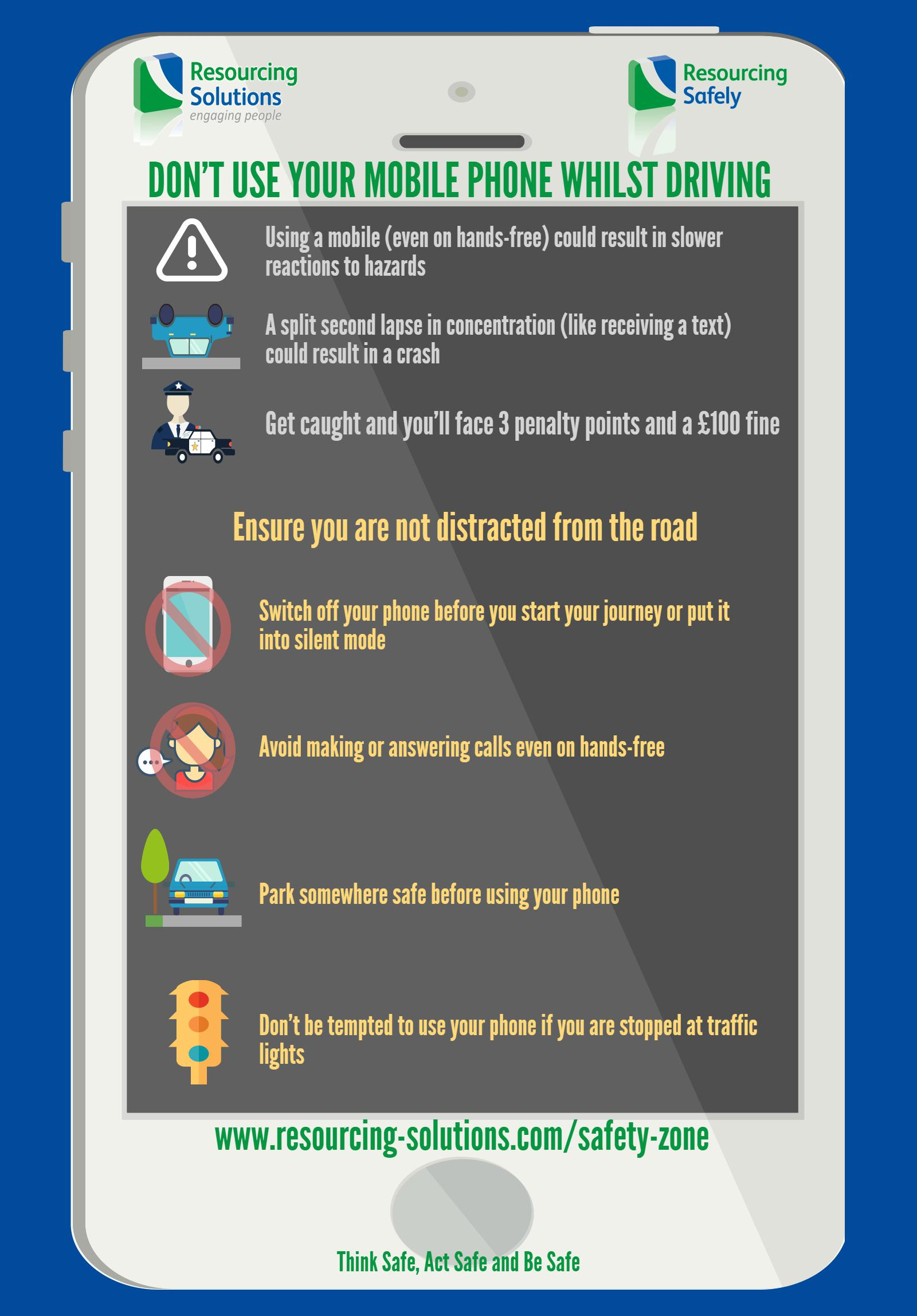 Don't use your mobile phone whilst driving
