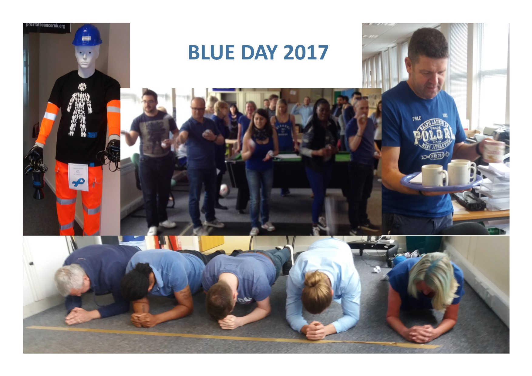 Raising money for Prostate Cancer UK at our annual blue day